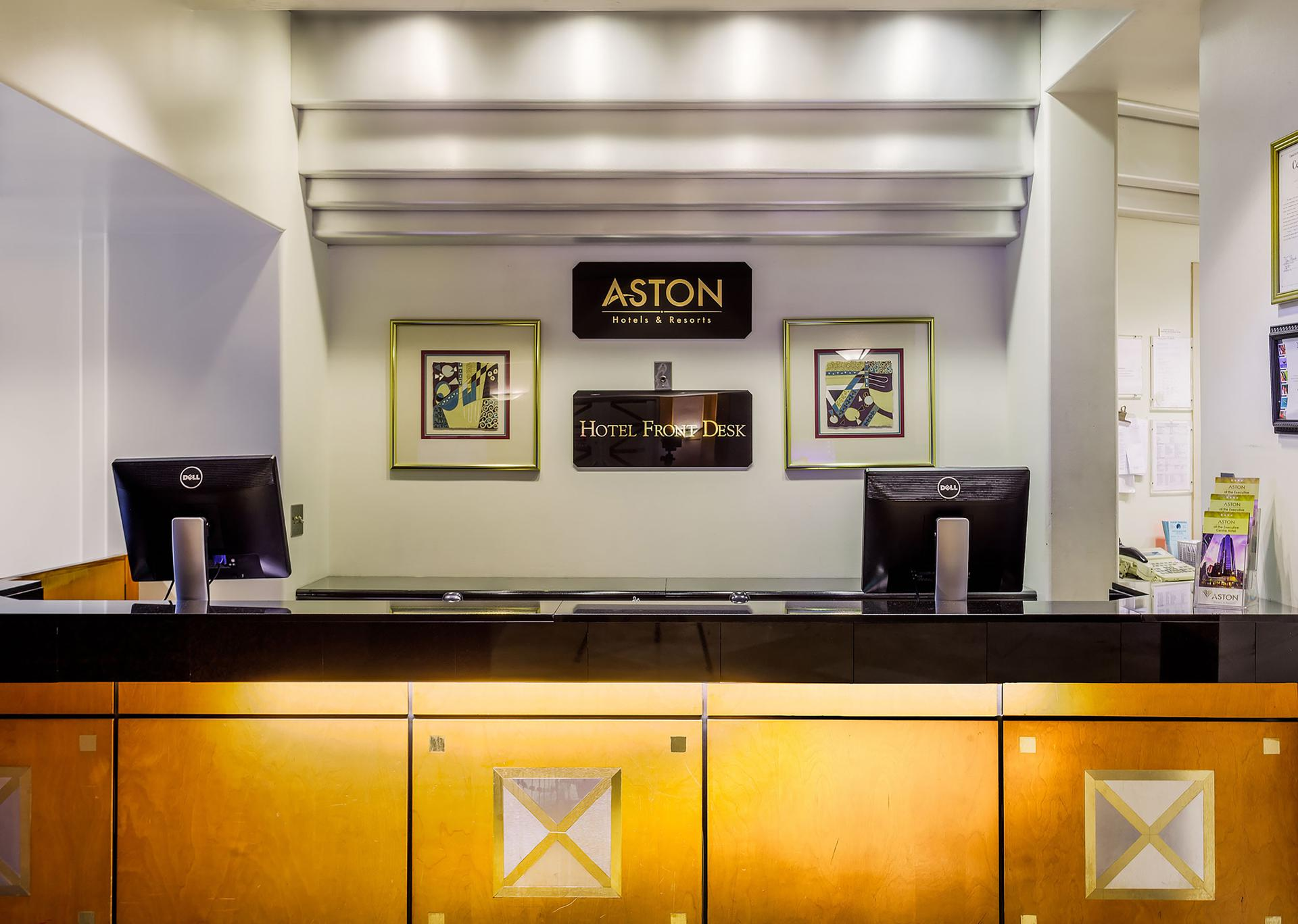 Aston At The Executive Centre Hotel Front Desk
