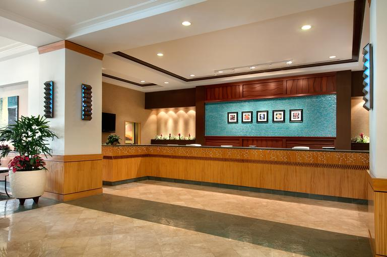 Ilikai Hotel - Luxury suites front desk lobby
