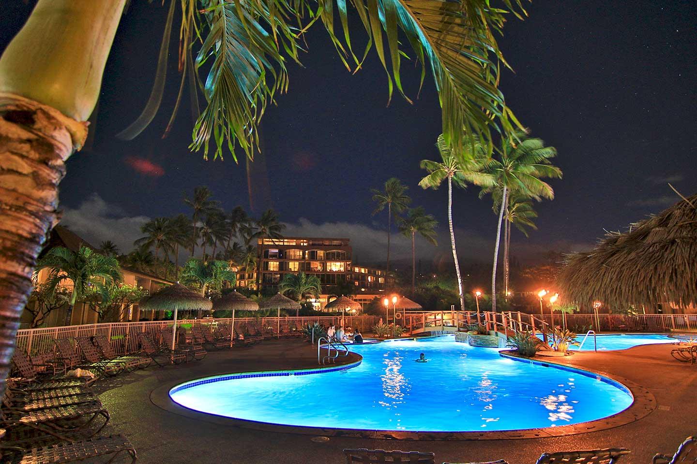 Aston Maui Kaanapali Villas Pool At Night