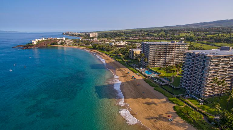 Aston At The Whaler On Kaanapali Beach Aerial